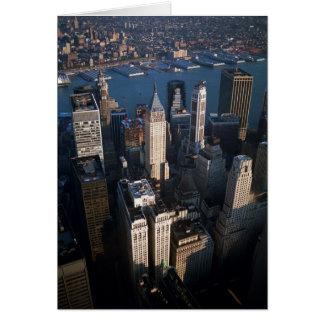 Lower Manhattan Tarjeta De Felicitación