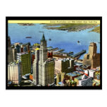 Lower Manhattan, vintage de New York City Tarjeta Postal