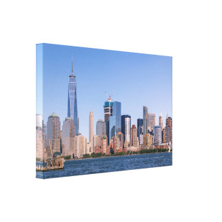 Lower Manhattan Wrapped Canvas