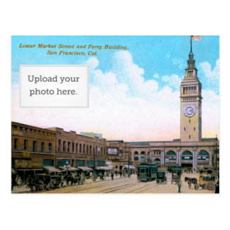 Lower Market Street and Ferry Building Postcard