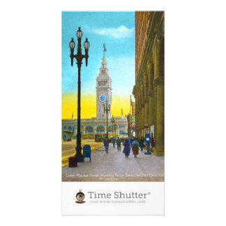 Lower Market Street showing Ferry Tower Photo Greeting Card