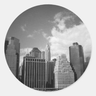 Lower New York City Skyline Classic Round Sticker