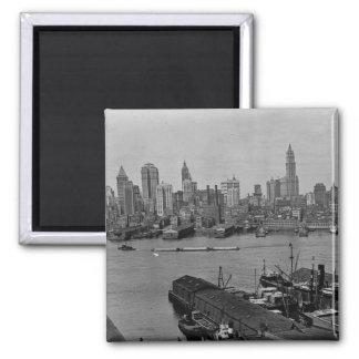 Lower New York Skyline East River New York City Magnet