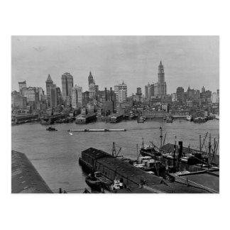 Lower New York Skyline East River New York City Postcard