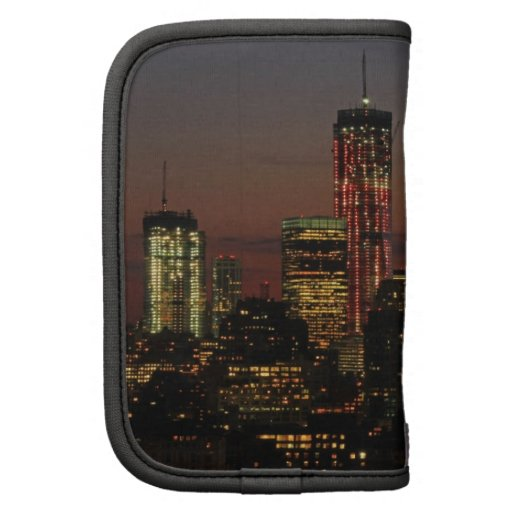 Lower NYC skyline: World Trade Center in Red Folio Planners