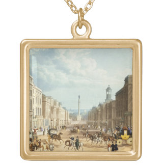 Lower Regent Street, pub. by Ackermann, c.1835 (co Gold Plated Necklace