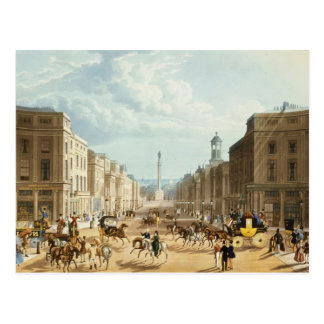 Lower Regent Street, pub. by Ackermann, c.1835 (co Postcard