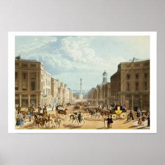 Lower Regent Street, pub. by Ackermann, c.1835 (co Poster