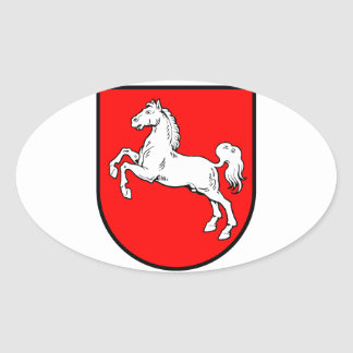 Lower Saxony coat of arms Oval Sticker
