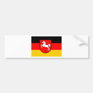 Lower Saxony flag with coats of arms Car Bumper Sticker