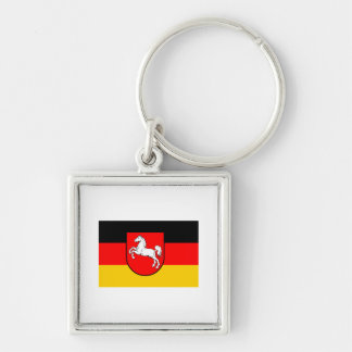 Lower Saxony flag with coats of arms Keychain