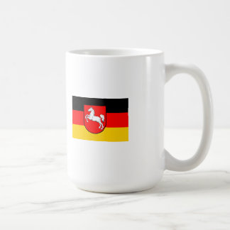 Lower Saxony flag with coats of arms Classic White Coffee Mug