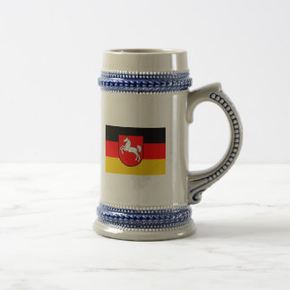Lower Saxony flag with coats of arms 18 Oz Beer Stein