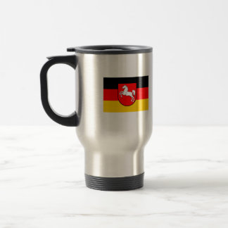 Lower Saxony flag with coats of arms 15 Oz Stainless Steel Travel Mug