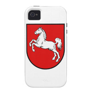 Lower Saxony Germany Coat of Arms Vibe iPhone 4 Cases
