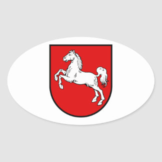 Lower Saxony (Germany) Coat of Arms Oval Sticker