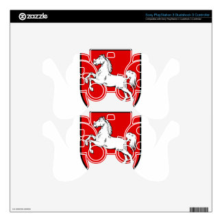 Lower Saxony (Germany) Coat of Arms Decal For PS3 Controller