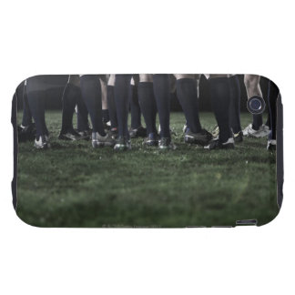 Lower section of a group of rugby players iPhone 3 tough cases