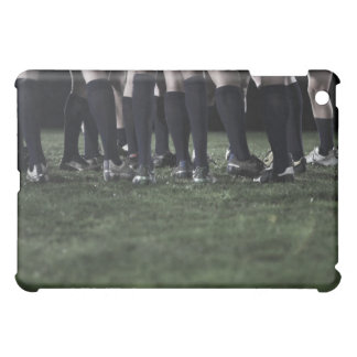 Lower section of a group of rugby players iPad mini case