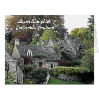 Lower Slaughter Cottages Card