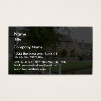 Lower Slaughter Gloucestershire Business Card