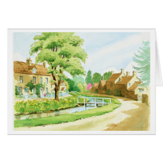 Lower Slaughter in Summer Greeting Card