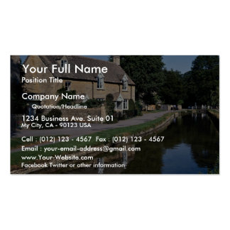 Lower Slaughter River Ewe, Cotswolds, England Double-Sided Standard Business Cards (Pack Of 100)