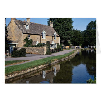 Lower Slaughter River Ewe, Cotswolds, England Greeting Card