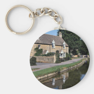Lower Slaughter River Ewe, Cotswolds, England Key Chains