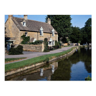 Lower Slaughter River Ewe, Cotswolds, England Postcard
