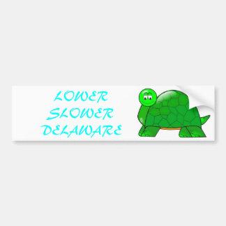 Lower Slower Delaware Bumper Stickers