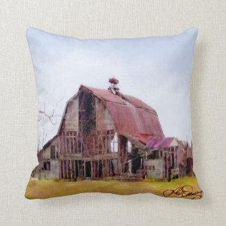 Lower, Slower, Well-Worn Barn in Rural Delaware Throw Pillow