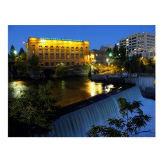 Lower Spokane Falls and Washington Water Power Postcard