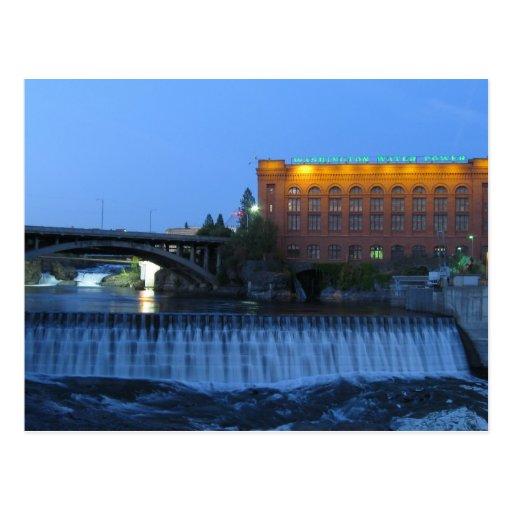 Lower Spokane Falls, Postcard