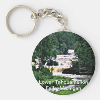 Lower Tahquamenon Falls, Michigan Basic Round Button Keychain