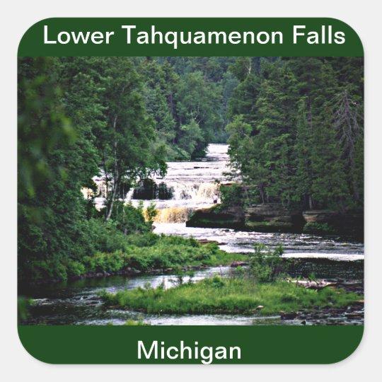 Lower Tahquamenon Falls, Michigan Square Sticker