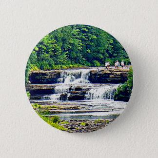 Lower Tahquamenon Falls & People, Michigan Button