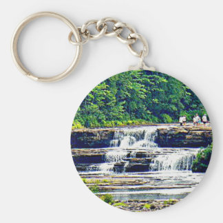 Lower Tahquamenon Falls & People, Michigan Keychain