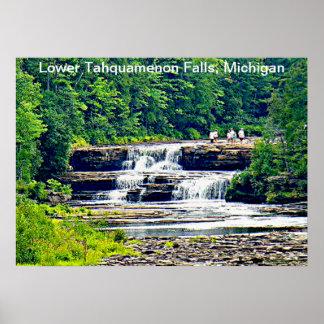 Lower Tahquamenon Falls & People, Michigan Poster