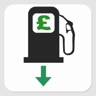 Lower UK Petrol Prices Square Sticker