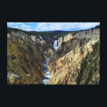"""Lower Yellowstone Falls Canvas Print<br><div class=""""desc"""">This is a view of Lower Yellowstone Falls from Artist Point. The Yellowstone River flows north from Yellowstone Lake, leaving the Hayden Valley and plunging first over Upper Yellowstone Falls and then a quarter mile (400 m) downstream over Lower Yellowstone Falls, at which point it then enters the Grand Canyon...</div>"""