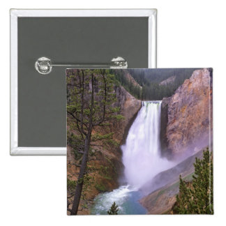 Lower Yellowstone Falls, Grand Canyon of 2 Inch Square Button
