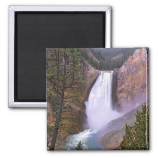 Lower Yellowstone Falls, Grand Canyon of 2 Inch Square Magnet