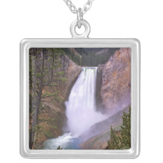 Lower Yellowstone Falls, Grand Canyon of Silver Plated Necklace