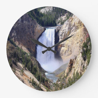 Lower Yellowstone Falls Large Clock