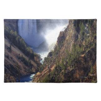 Lower Yellowstone Falls, Yellowstone National Cloth Placemat