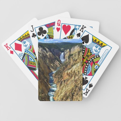 Lower Yellowstone Falls, Yellowstone National Park Bicycle Playing Cards