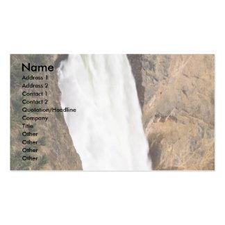 Lower Yellowstone Falls, Yellowstone National Park Business Card Template