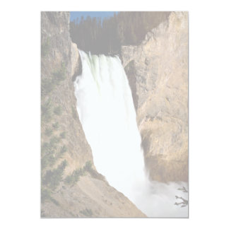 "Lower Yellowstone Falls, Yellowstone National Park 5"" X 7"" Invitation Card"