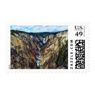 Lower Yellowstone Falls, Yellowstone National Park Postage